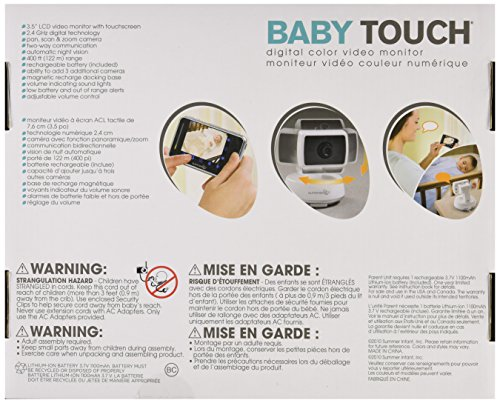 Summer Infant Baby Touch Pan/Scan/Zoom Video Baby Monitor, 3.5'' by Summer Infant (Image #7)