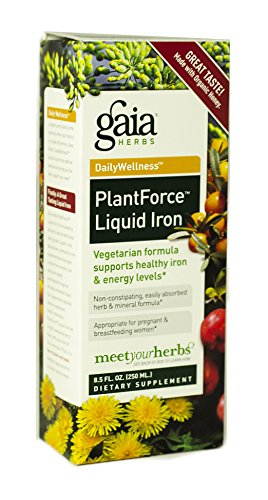 Gaia Herbs Plantforce Liquid Iron Supplement, 8.5 Ounce