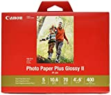 CanonInk Photo Paper Plus Glossy II 4'' x 6'' 400 Sheets (1432C007)