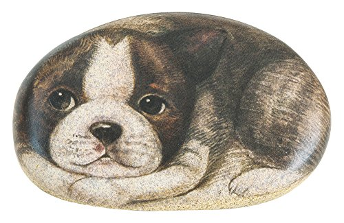 - The Paragon Desk Accessory - Boston Terrier Paperweight, Office Desk Dog Rock Paper Weight