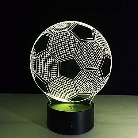Luz Nocturna de batería de fútbol con botón táctil luz Variable ...