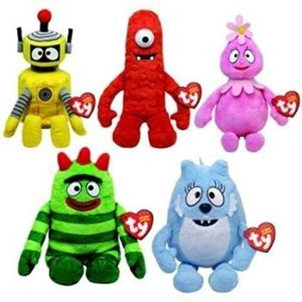 350c7f70b51 Amazon.com  Ty Beanie Babies Yo Gabba Gabba - Set of 5  Toys   Games