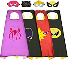 ROKO Fun Cartoon Superhero Capes for Kids - Best Gifts for Kids Toys for 3 4 5 6 7 8 9 10 Year Old Boys Girls