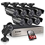 4 1 2 x 10 filter housing - ZOSI 8-Channel FULL 1080P HD-TVI Video Security System CCTV DVR 1TB Hard Drive + 8 Indoor/Outdoor 2.0MP 1920TVL Weatherproof Surveillance Security Camera System, Smartphone, PC Easy Remote Access