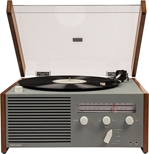 Crosley Otto Belt-Drive Turntable with Bluetooth, AM/FM Radio, Aux-in, and Built-in Speaker