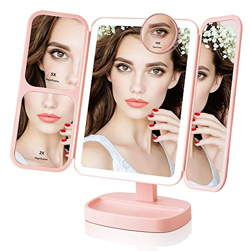 Easehold Led Lighted Vanity Mirror Make Up Tri-Fold, used for sale  Delivered anywhere in USA