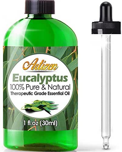 Artizen Eucalyptus Essential Oil (100% PURE & NATURAL - UNDILUTED) Therapeutic Grade - Huge 1oz Bottle - Perfect for Aromatherapy, Relaxation, Skin Therapy & More!