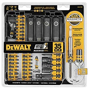 DEWALT DWA2T35IR IMPACT READY FlexTorq Screw Driving Set, 35-Piece