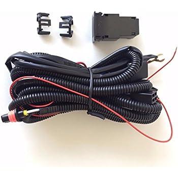 amazon com ledin 9006 12v 30a fog light wiring harness relay kit on  ledin 899 880 12v 30a fog light wiring harness relay kit on off switch 2 plugs wire