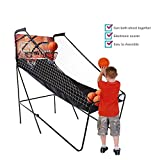 Corgy Indoor Basketball, Electronic Basketball Game 2-Player Double Shot Electronic Hoops Scoring with 5 Balls and Scoring Screen Timer (US Stock)
