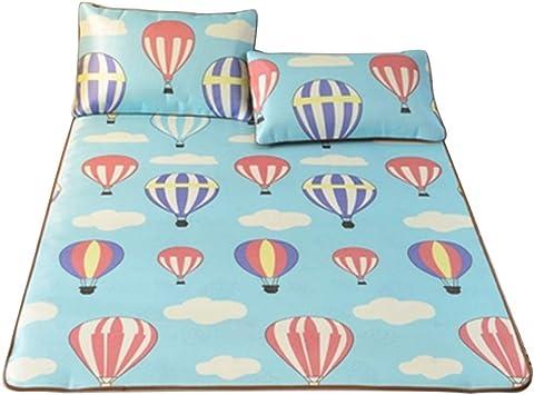 3pcs//set Summer Ice Silk Mat  Folding Cool Sleeping Mattress W//Pillowcase Cover