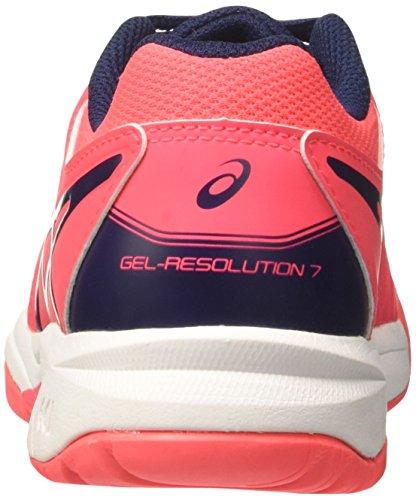 Asics Unisex-Kinder Gel-Resolution 7 Gs Turnschuhe, Rosa Pink (Diva Pink/indigo Blue/white)