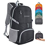 ZOMAKE Ultra Lightweight Hiking Backpack, 35L Foldable Water Resistant Travel Daypack Packable Backpack for Outdoor…