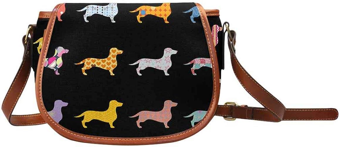 InterestPrint Dog Breeds Engraved Hobo Crossbody Shoulder Saddle Sling Bag