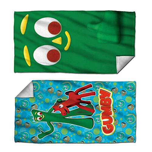 Gumby Claymation TV Series Best Friends & Big Face Set of 2 Beach Towels