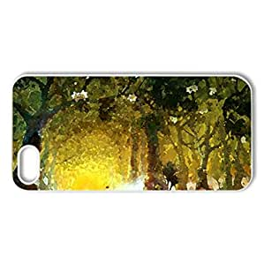 ..Magic Forest.. - Case Cover for iPhone 5 and 5S (Forests Series, Watercolor style, White)