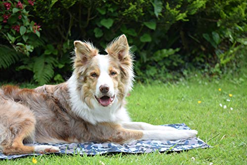 Large Dog Cooling Mat, Camouflage Oxford Resistant-Dirty Scratch-Resistant, Safety Non-Toxic Self Gel Cooling Mat for Dogs Cats Pet, Foldable Waterproof Wear-Resistant Cooling Pad for Dogs 90x60 CM 7