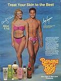 Christy Fichtner Greg Louganis for Banana Boat ad 1989