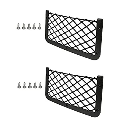 JAVOedge [2 Pack], ABS Plastic Frame with Stretchable Mesh Net, Screws Included for Secure Fit in Auto, RV, Home, Marine: Automotive