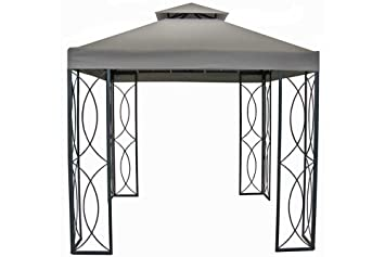 8 x 8 steel frame gazebo with high grade 300d canopy