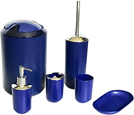 Porta Sapone Cestino Viola Kit da Bagno N // A 6 Kit Accessori Bagno Set Bagno con Porta Spazzolino Dispenser Sapone e Bicchiere per Spazzolino Spazzolone