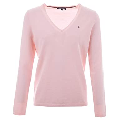 Tommy Hilfiger Damen Pullover New Ivy V nk SWTR: