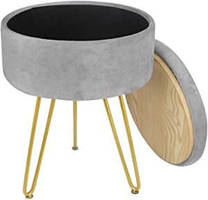 Patio Metal Side Table Small Round Coffee Tea Little Accent Snack Steel End Table Weather Resistant Outdoor Bistro Garden Porch Yard Balcony Lawn Black (Gray with Storage)