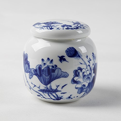 Gift Canister - Dehua Porcelain Top Grade Chinese Blue and White Porcelain Canister/tea Canister/ceramic Gift (5)
