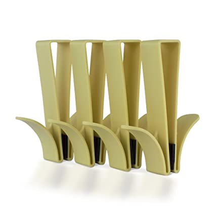 SL Ideas - Gancho de Ducha para Puerta, 4 Unidades, para Colgar Toallas,