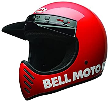 Bell 7081035 Moto-3 Classic Casco, Rojo, Talla M