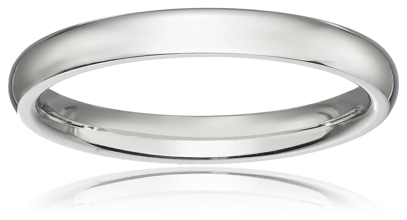 Classic Fit Platinum Band, 2mm, Size 7.5