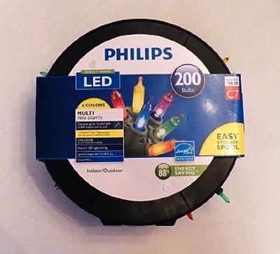 Philips LED 200 Bulbs Multi Mini Lights 6 Colors on Easy Storage Spool