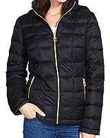 MICHAEL Michael Kors Hooded Down Packable Coat - Black