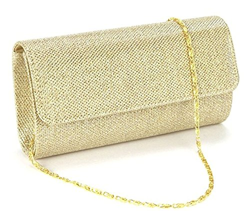 Evening Bag Clutch Purses for Women,iSbaby Ladies Sparkling Glitter Party Handbag Wedding Bag with Chain -