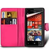 xiaomi red rice note - MobiBax Xiaomi Red Rice Note 4X - Protective Magnetic Pu Leather Wallet Flip Skin Case Book Cover In Hot Pink