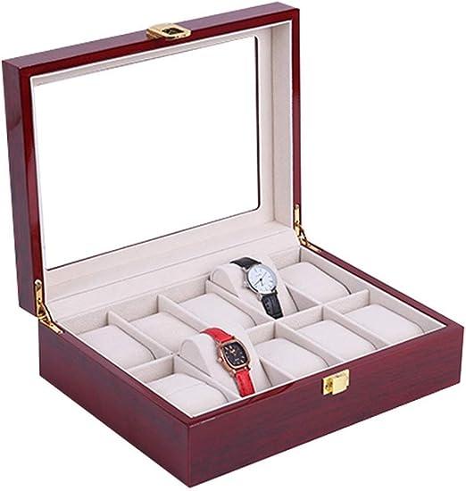 Jewelry Box Inicio del Reloj del almacenaje Display Organizador de ...