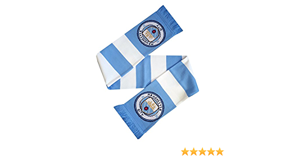 Manchester City FC Bar Scarf New Crest!