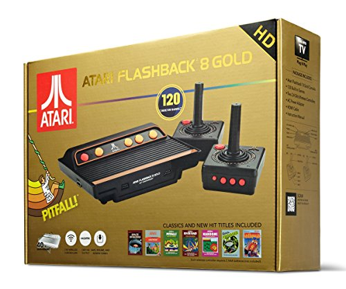 Atari Flashback 8 Gold Console HDMI 120 Games 2 Wireless Controllers