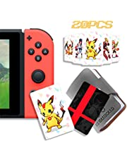 20 Pcs NFC Tag Game Cards for Super Smash Bros. Ultimate (SSBU), Compatible for Switch/Wii U/3DS XL with Portable Leather Wallet Holder