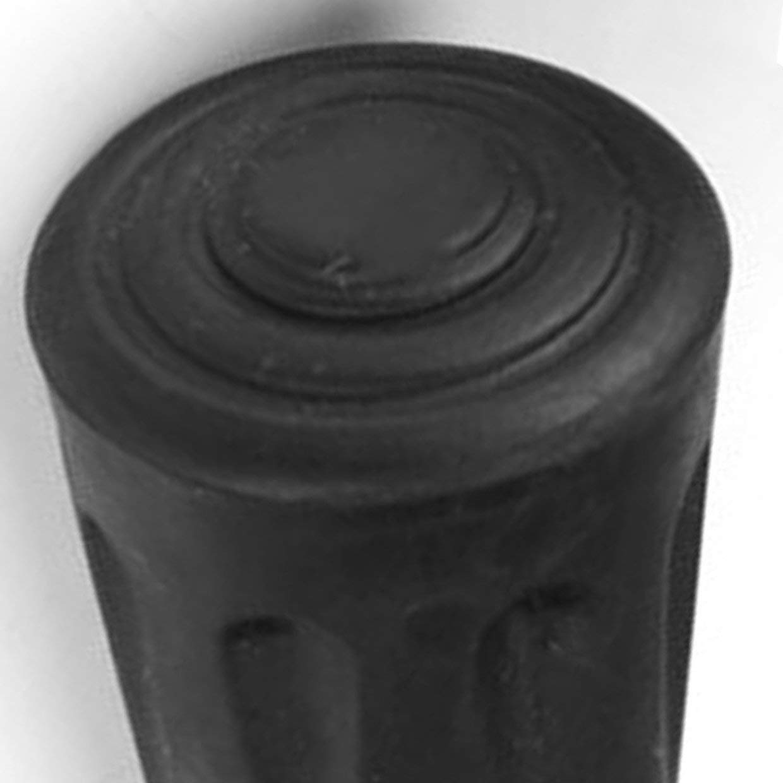 MXECO Caucho Antideslizante Bast/ón Muleta Bastones Almohadillas Inferiores Ca/ña Tapa Cubierta Protector Escalada Senderismo Trekking Bastones Consejos
