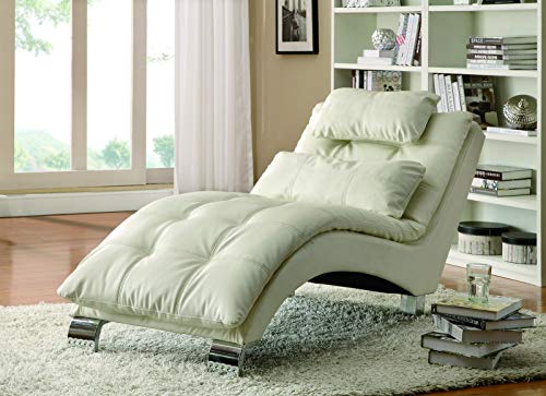 (Dilleston Upholstered Chaise White)