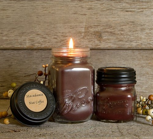 - The Barn Candle Company Eco Friendly, Hand Poured, Soy Blend Wax Macadamia Nut Coffee 16 Oz. Candle