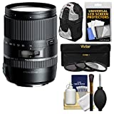 Tamron 16-300mm f/3.5-6.3 Di II PZD Macro Zoom Lens with Sling Backpack + 3 UV/CPL/ND8 Filters + Kit for Sony Alpha A-Mount Digital SLR Cameras