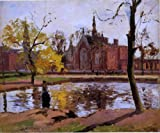 Camille Pissarro Dulwich College London - 24'' x 30'' 100% Hand Painted Oil Painting Reproduction