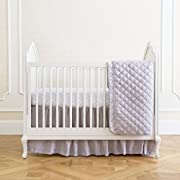 Summer Infant 4-Piece Classic Bedding Set with Adjustable Crib Skirt, Medallion Taupe