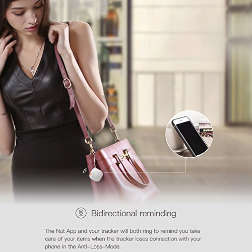 Nut3 Smart Key Finder Bluetooth WiFi Tracker GPS Locator Wallet Phone Key Anti-lost Bidirectional Alarm Reminder (1 pack, White) by Nut (Image #7)