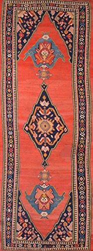 """Pre-1900 Senneh Kilim Antique Handmade Persian Runner Rug 6x15 For Living Room (15' 3"""" x 5' 8"""")"""
