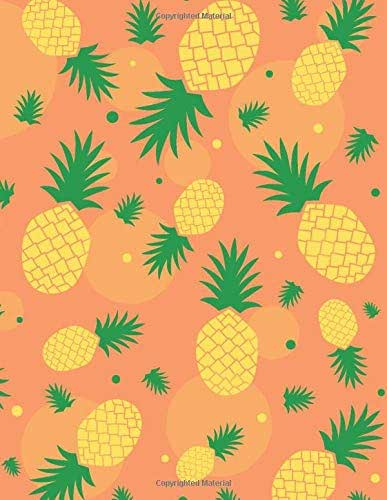 Low Vision Notebook: Bold lined low vision journal in Hawaiian pineapple pattern for visually impaired, elderly, or young children