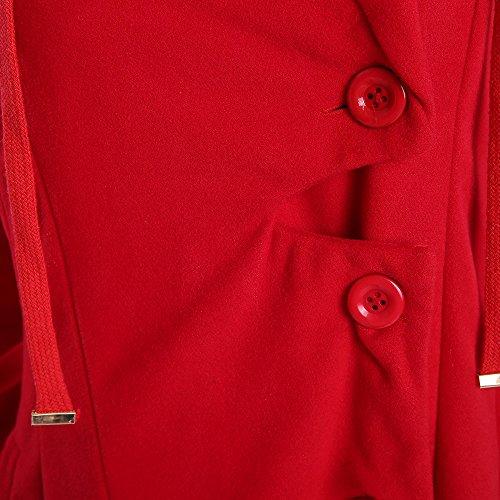 Invernali Lunghi Piumino Pelliccia Parka Elegante Giubbino Rosso Cappotti Cappotto Invernale Giacca Eleganti Faux Trench Lungo Donna Beautyjourney Giubbotto q7Hxazt