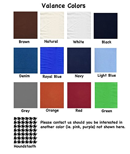 Basketball School Colors Custom Window Valance Window Treatment – In Your Choice of Colors – Custom Made